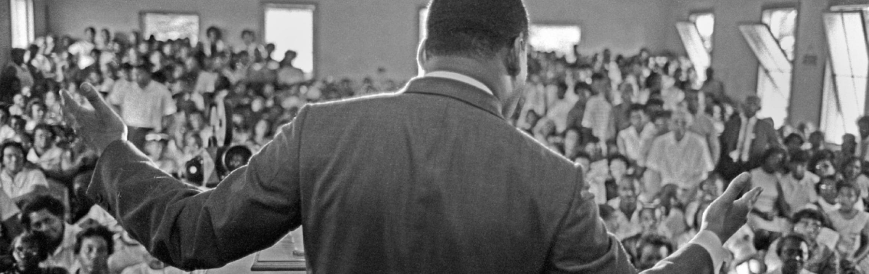 King speaking in Eutaw, Alabama