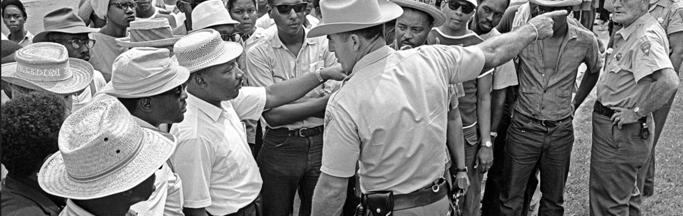 King and Stokeley Carmichael during the 1966 March Against Fear in Mississippi