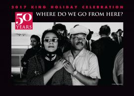 King and Coretta holding hands at airport -- 2017 King Holiday