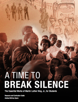 """Cover of """"A Time to Break Silence"""" curriculum guide"""