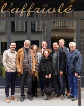 Carson, ACP Pastor Scott Herr, Reverend Dr. Luke Powery of Duke University, and other American Church in Paris Associates