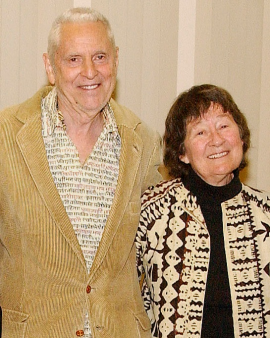 Guy Carawan and his wife, Candie
