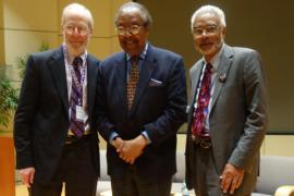 Photo of Clarence Jones, Clayborne Carson, and Len Rubinowitz