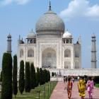 At Taj Mahal while teaching Stanford Overseas Seminar on Gandhi and his legacy