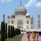 At Taj Mahal while teaching Stanford Overseas Seminar on Gandhi and his legacy