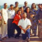 In Dakar, Senegal with Jesse Jackson and Jesse, Jr., Al Sharpton and other delegates to African And African American Summit Meeting, May 2, 1995