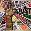 Mural by Paula Scher for the Center for Civil and Human Rights
